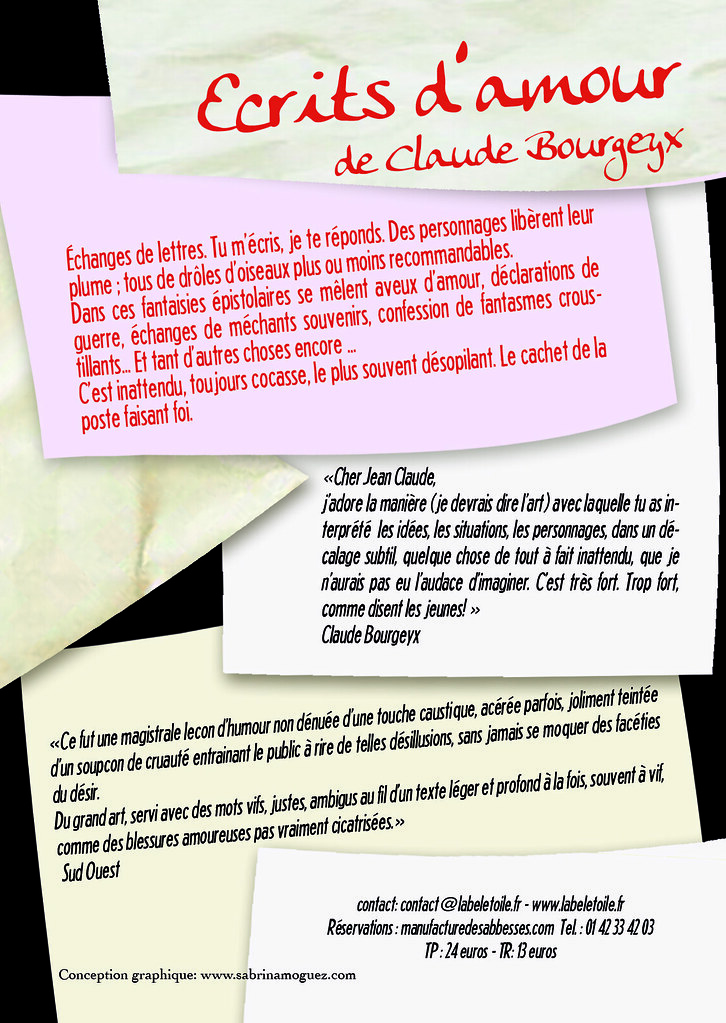 Flyer Ecrits Damour Hellbereth Flickr