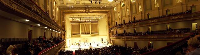 panorama of symphony hall