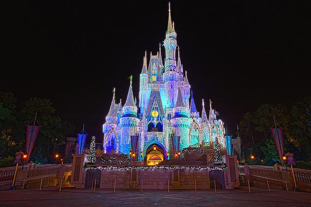 Beauty castle disney decorate for christmas