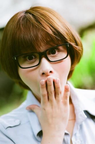 無料写真素材, 人物, 女性  アジア, 眼鏡・メガネ, 驚く, 台湾人, 女性  ショートヘア