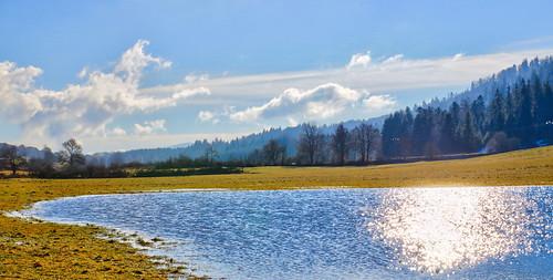 La plaine de Lavant, inondée après la fonte des neiges !!!