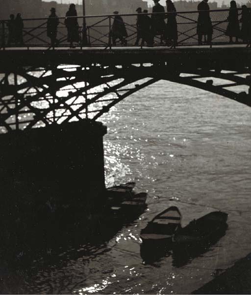 Le Pont des Arts, Paris, circa 1933-1934, by Brassaï