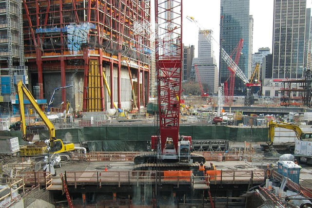 Construction at ground zero