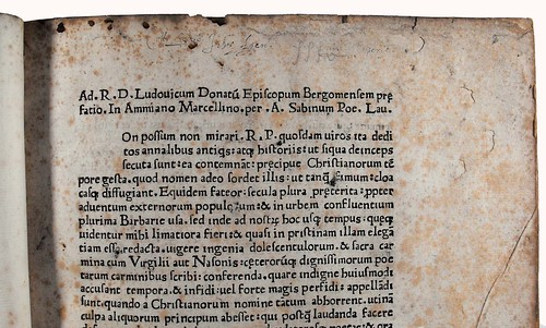 Ownership inscription in Ammianus Marcellinus: Historiae, libri XIV-XXVI