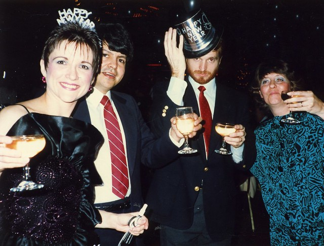 Carole, Carlos, Jay, Connie New Year's Eve 1987 - 1988
