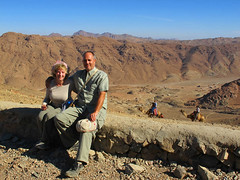 On our way up to Summit of Mt Sinai
