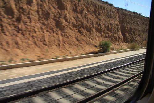 Vistas desde la ventana del Tren Avant Madrid Ciudad Real