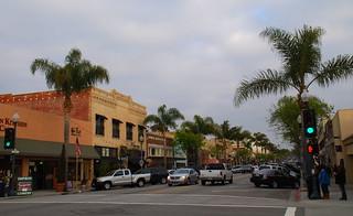 Main Street Scene Looking East, Downtown Ventura CA