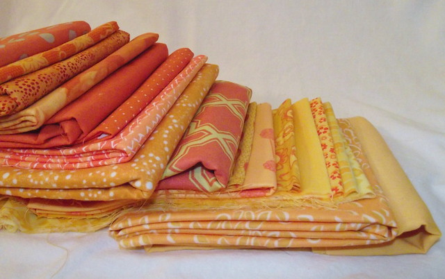 Fabrics for Postage Stamp QAL
