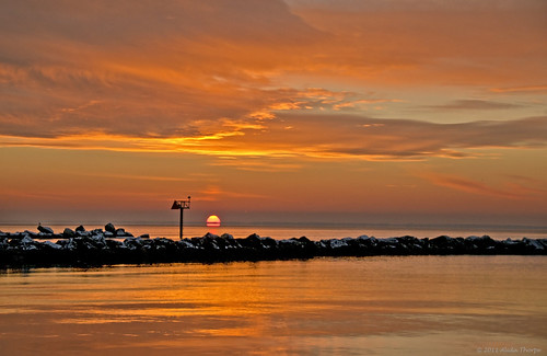 winter sunrise sayville by Alida's Photos