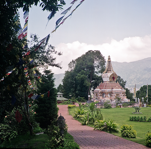 a Buddhist temple in Nepal. 58850010