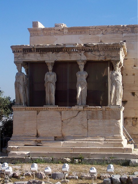 The Erechtheion, the Porch of the Caryatids, Acropolis of Athens