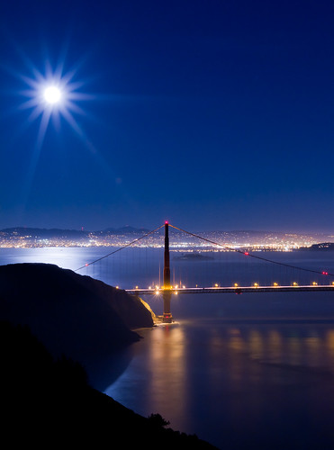 sf sanfrancisco city longexposure bridge light sunset sky moon seascape art nature water architecture night canon landscape lights coast scenic sanjose wideangle calif clear goldengate citylights 7d lighttrails bluehour nite starburst sanfransisco citylight northerncalif top20longexposure the4elements tripodleg architecturual elementsorganizer