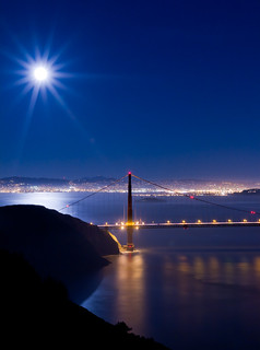 Moon Over The Golden Gate