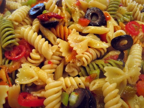 Blackberry Pockets Cold Italian Pasta Salad And Dressing