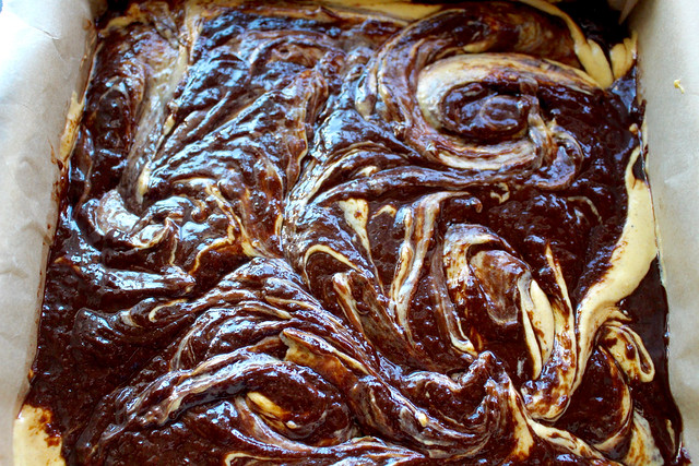 Pumpkin Swirl Cheesecake Brownies - 29