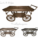 Cart in 3 Styles, 3D Model