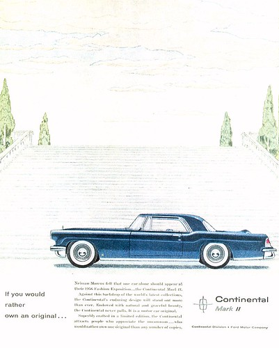 1956 Lincoln Mk II Hardtop Ad - USA by Five Starr Photos ( Aussiefordadverts)