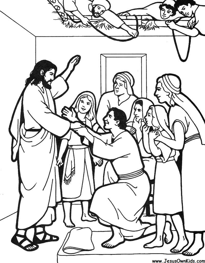 Jesus Heals Paralyzed Man Coloring Page Pictures to Pin on