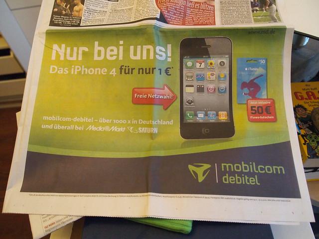 Iphone  Mobilcom Vertrag