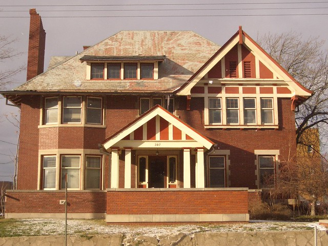 One of the last remaining Paterson Homes in Downtown Flint Mi Michigan