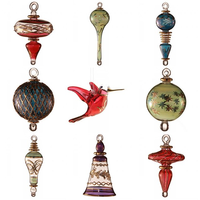Merry & Bright: Hand Blown Glass Ornaments from Egypt via Women At Risk, International