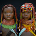 Two Mumuhuilas little girls - Angola by Eric Lafforgue