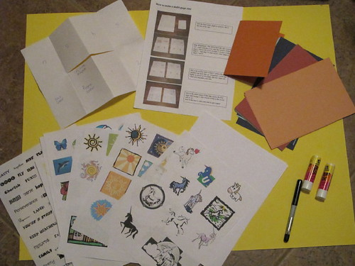 """, Our """"Zine Making"""" kit for Danika, My Travels Blog 2020, My Travels Blog 2020"""