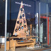 freehand window display with plywood tree