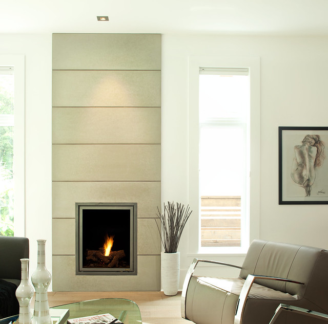 Solus 16 x 48 wall tiles contemporary fireplace flickr for Modern fireplace wall