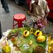 Smoking Papaya Vendor - Kolkata, India