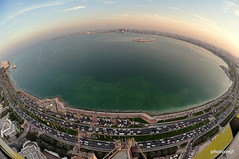 Doha Bay Sunset Fisheye