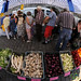 Fisheye View of Saturday Farmer's Market - Prague, Czech Republic