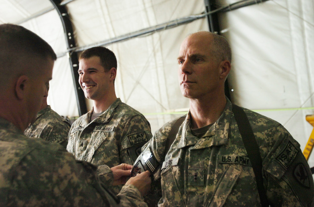 B Company 3/214 Avn  receives combat patches | PARWAN PROVIN