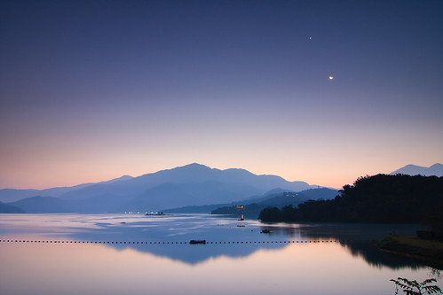 morning lake mountains reflection night sunrise taiwan 南投 台灣 山 日月潭 sunmoonlake nantou 湖泊 日出 倒影 出水口 pwpartlycloudy