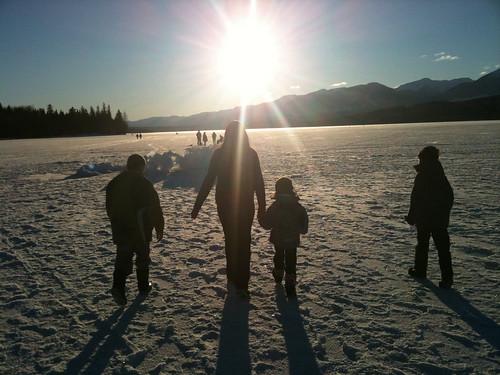 lake ice frozen bc terrace lakelse