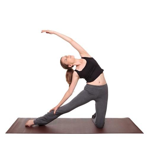 yoga poses - Gate Pose position (parighasana)