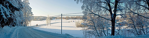 road winter panorama rural finland scenery sipoo wintery immersby