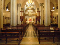 Holy Virgin Melkite Greek Cathedral of Aleppo, interior view