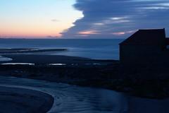 Estuaire de la Slack, Janvier photo mer crépuscule