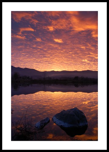 sunset mountains oregon landscape pond talent siskiyou southernoregon