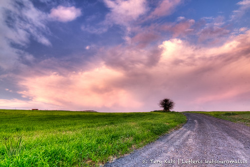 road blue sunset tree green clouds canon eos cyprus tokina fx hdr kats larnaka catchycolorsred lefteris 1116 tery flickraward katsouromallis terykats leftkats