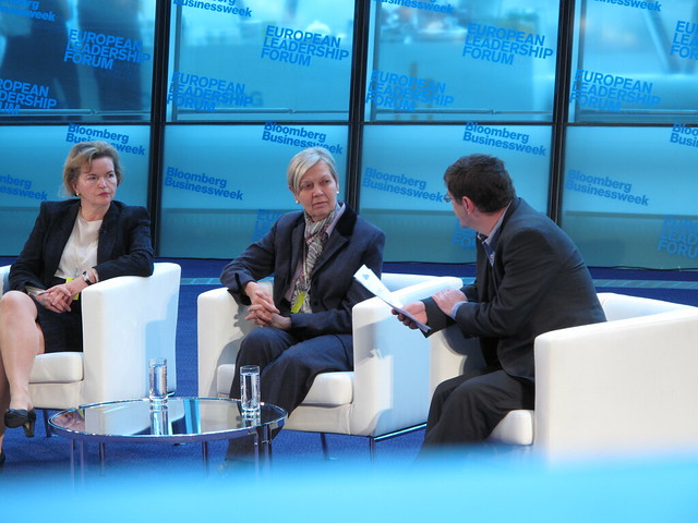Gertrude Tumpel-Gugerell, Member of the Executive Board, European Central Bank, DeAnne Julius, Chairman, Chatham House Interviewed by: Mark Gilbert, London Bureau Chief, Bloomberg News, at Bloomberg Businessweek European Leadership Forum ELF 2010