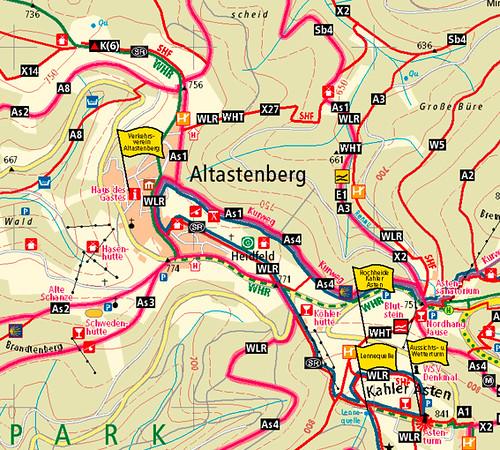 Wanderkarte Altastenberg - Sauerland