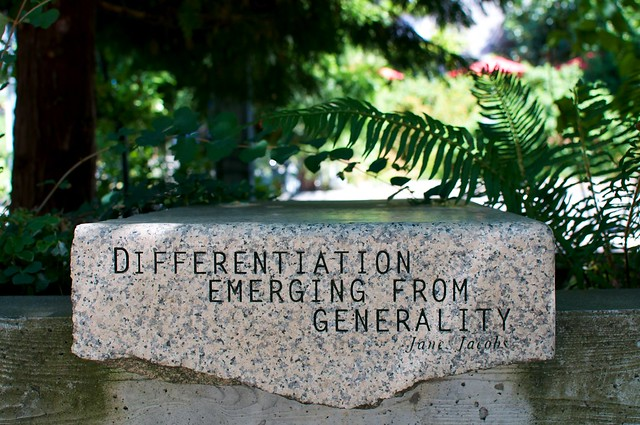 "NCC - ""Differentiation Emerging From Generality"" Jane Jacobs from Flickr via Wylio"