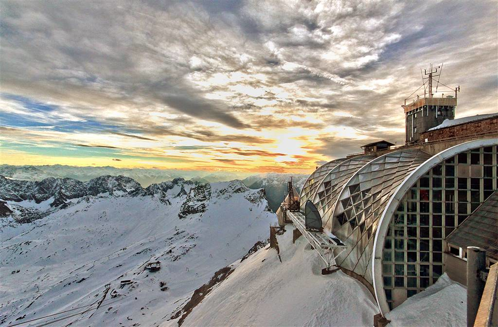 Sunset at the Zugspitze