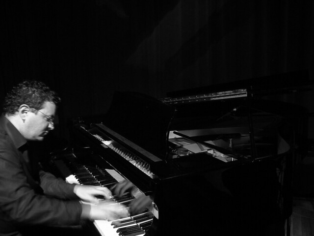 Bruno Sanfilippo playing the piano
