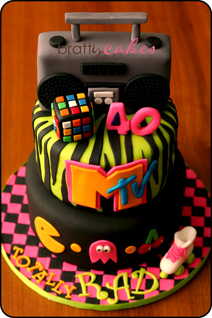 90s theme birthday party for 80s cake decoration ideas