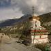 Tibetan Buddhist Chorten on the Way to Manang - Annapurna Circuit, Nepal