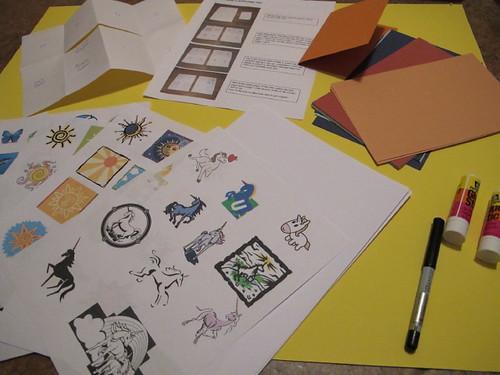 ", Close-up of ""Zine Making"" Kit, My Travels Blog 2020, My Travels Blog 2020"